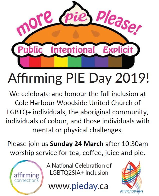 Affirming PIE Day 24 March 2019